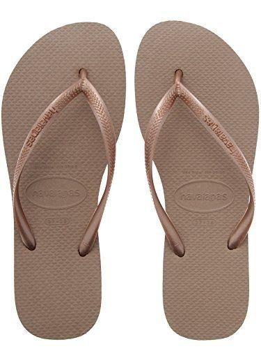 209d903b8 Havaianas Slim Brazil Women s Flip Flops Rose Gold size 39 40  Amazon.co.uk   Shoes   Bags