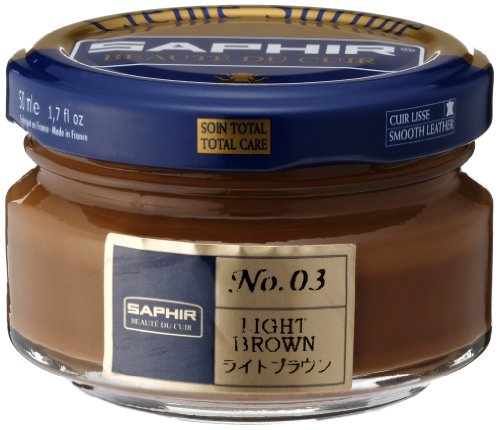 - Saphir Shoe Cream 50ml Jar Light Brown