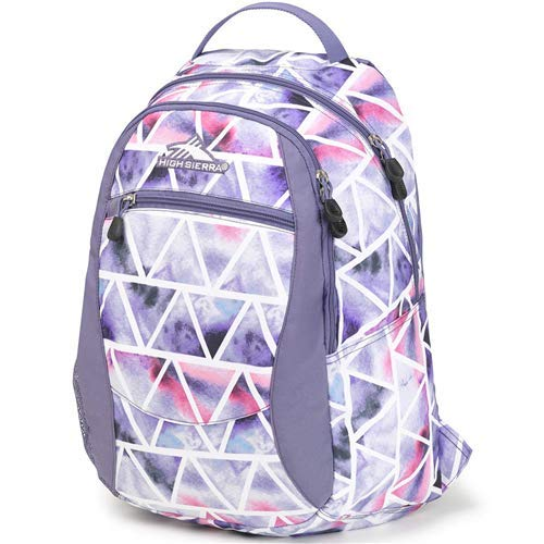 (High Sierra Unisex Curve Backpack, Lightweight and Stylish Bookbag Backpack for College Students with Padded Shoulder Straps)