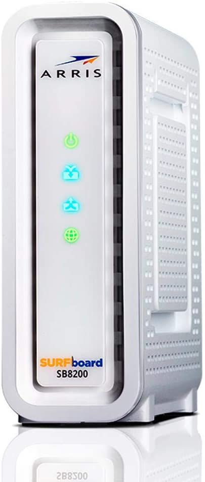 Arris SB8200 Surfboard DOCSIS 3.1 32x8 Cable Modem Featuring 2 Gigabit Eithernet Ports and IPv4/IPv6 Support (Non-Retail Packaging)
