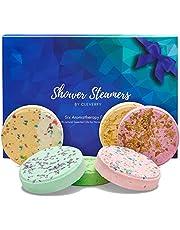 Cleverfy Shower Steamers - Aromatherapie - [6x] Douchebommen Met Essentiële Oliën Voor Ontspanning – Te gekke SPA-beleving voor Vriendin of Moeder, voor Verjaardag of Andere Aangelegenheid