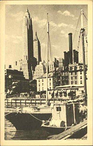 Fish Fulton Market (Fulton Fish Market Fulton, New York Original Vintage Postcard)