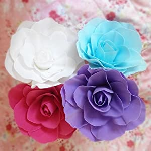 30Cm Large Foam Rose Artificial Flower With Stage Props Wreaths 109