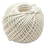 Event Party Supplies - 70m Cotton Rustic Wrap Wedding Decoration Craft Rope String Cord Event Party Supply - Wool Leash - 1PCs