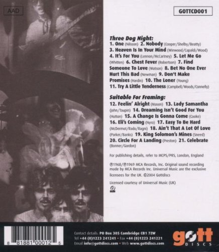 Three Dog Night - Three Dog Night / Suitable for Framing - Amazon ...