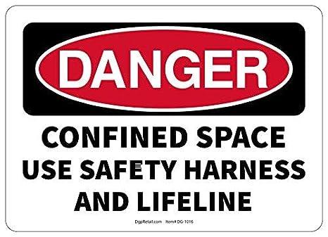 HSSS Señal de Seguridad de Peligro con arnés de Seguridad y Vida ...