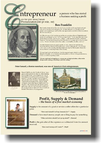 Entrepreneur Poster - Classroom Economics