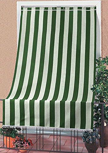 Tessuti Tende Da Sole Per Esterni.Tenda Da Sole Tessuto Resistente Per Esterno Con Anelli Lavabile Frange Pizzo Verde