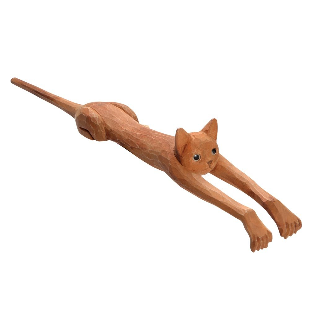 WHAT ON EARTH Funny Basswood Cat Back Scratcher - 19''