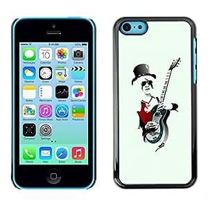 PC/Aluminum Funda Carcasa protectora para Apple Iphone 5C Rock Guitar Player Cool / JUSTGO PHONE PROTECTOR