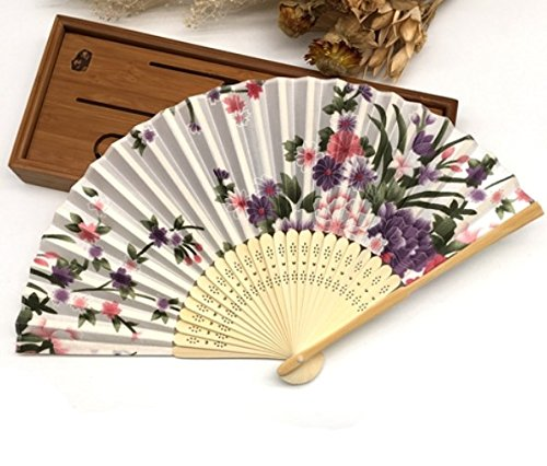 White Purple 30Pcs/Lot Engraving Name And Date On The Rib For Wedding Souvenir Beauty Fabric Hand Fans by Hand Fan