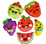 Plush fruit cartoon figures stuffed toys, bulk set of 12.