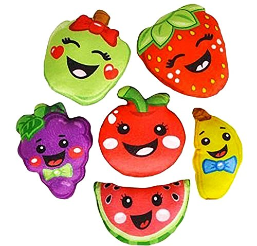 Plush fruit cartoon figures stuffed toys, bulk set of 12. by The Plush Family