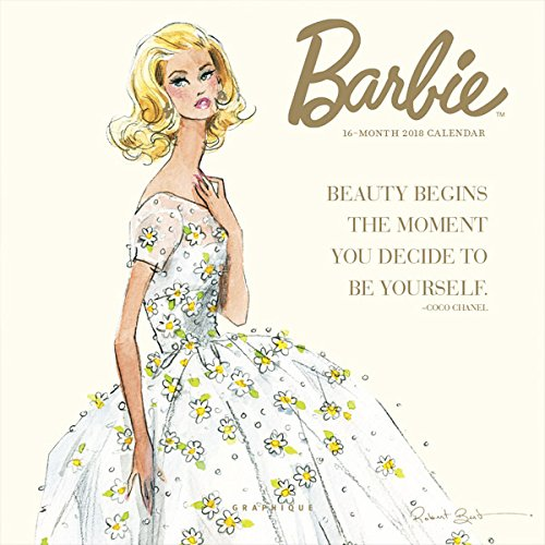 Graphique 2018 Barbie Mini Calendar (Robert Best Barbie Calendar)