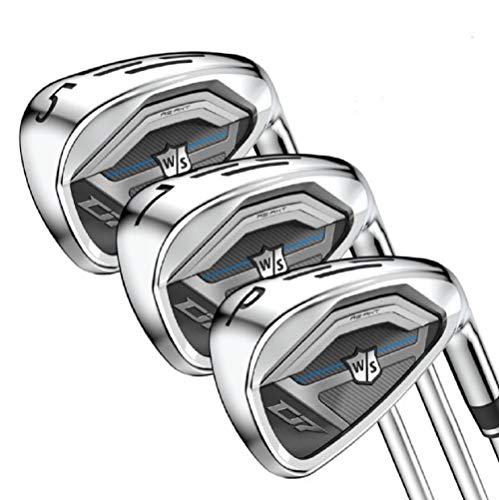 Wilson Staff Golf D7 Steel Iron Set, Men's Right Hand, Regular Flex 5-PW, GW