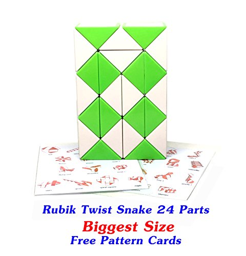 Original Speed Racer Costume (Rubik Snake Twist Puzzle 24 Wedges (Parts) Biggest Size Ever 1.7 inch for each Parts with FREE with Pattern Cards)