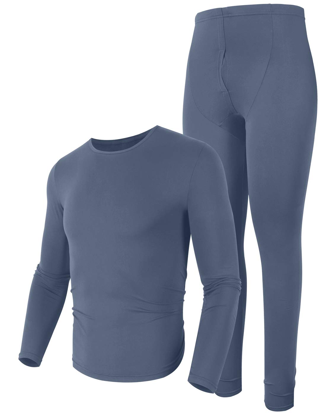 poriff Mens Insulated Thermal Midweight Thermal Underwear Cold Weather Clothes Dark Grey M by poriff