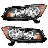 09 honda accord headlights - Driver and Passenger Headlights Headlamps Replacement for Honda 33150TA0A01 33100TA0A01