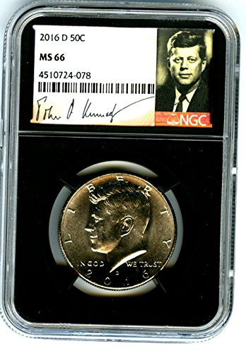 2016 D Kennedy Half Dollar RARE VERY LOW CENSUS RETRO BLACK CORE HOLDER Half Dollar MS66 NGC (Very Coin Rare)