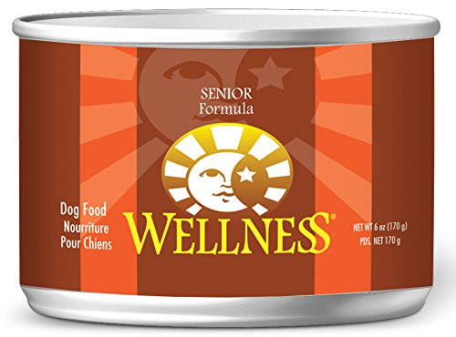 Wellness Complete Health Natural Wet Canned Senior Dog Food, Chicken & Sweet Potato, 6-Ounce Can (Pack Of 24)