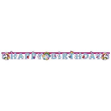NET TOYS 1 Guirnalda 180 x 15 cm - Cumpleaños Niña | Festón ...