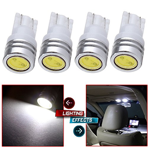 Glove Buick Box (cciyu 4x T10 194 168 Wedge 12V 1W 6000K High Power White LED Light Lamp Bulb Replacement fit for 1997-2005 Buick Century Dome Light Map Light Trunk/Cargo Area Light Glove Box Light)
