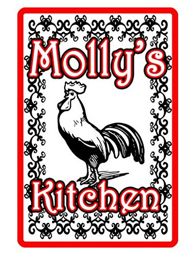 Sylty Personalized Kitchen Rooster Sign Printed with Signs Metal Signs 8x12 Inch ()