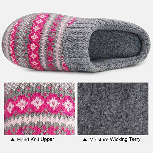 Pictures of RockDove Sweater Knit Scuff Slippers Women (7- 5