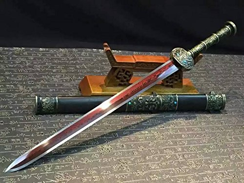 Chinese sword/Fengyun jian/Damascus steel redness blade/Black wood scabbard/Alloy - Minecraft Song Li