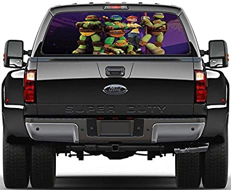 Ninja turtles tmnt rear window decal graphic sticker car truck suv van 399 custom