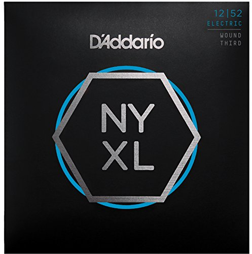D'Addario NYXL1252W Nickel Plated Electric Guitar Strings,Light Wound 3rd,12-52 - High Carbon Steel Alloy for Unprecedented Strength - Ideal Combination of Playability and Electric Tone ()