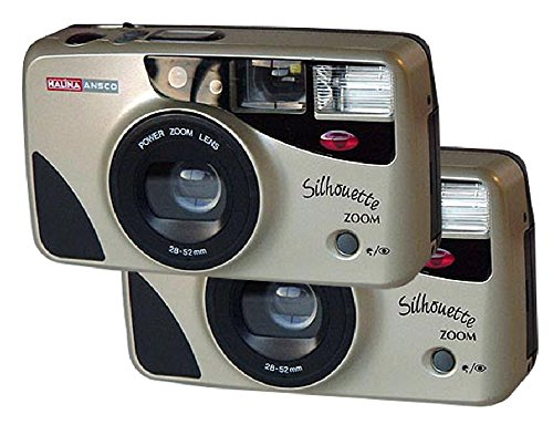 2-Pk Halina Ansco 35mm Film Camera Vintage Point & Shoot Flash Zoom Lens 28-52mm