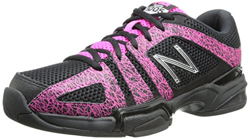 New Balance Womens WC1005 Stability Tennis Shoe Black/Pink