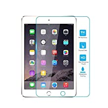 TNP iPad Mini Screen Protector - Premium Ultra Clear High Definition HD 0.33mm 9H 2.5D Anti-Scratch Anti-Fingerprint Tempered Glass Screen Protector Guard for iPad Mini 3 and iPad Mini 2 7.9-Inch