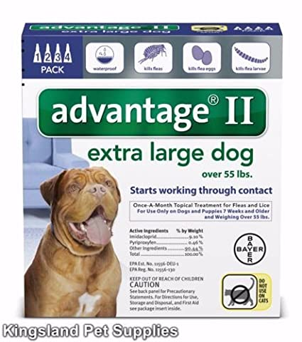 Advantage Ii for Extra Large Dogs (Over 55 Lbs, 4 Month Supply) USA EPA Approved - Revolution Dog
