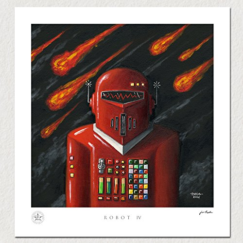"""Robot IV"" Vintage Tin Robot Artwork Print By John Padlo"
