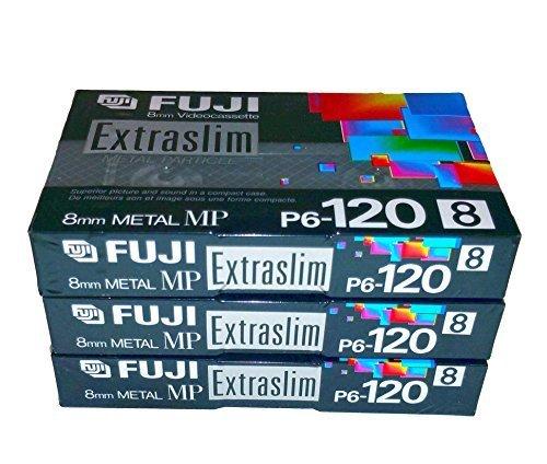 Fuji 8mm Metal MP Extraslim Videocassette P6-120MP Digital8 - 3 Pack