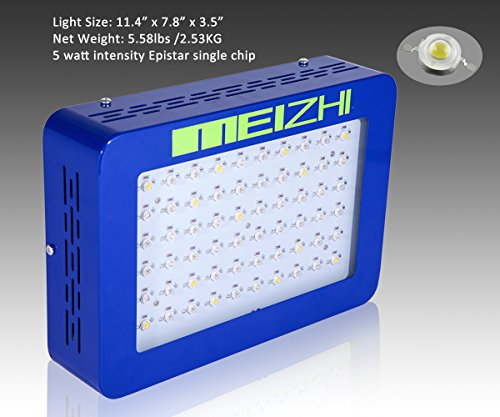 51AIcQ1y pL - MEIZHI 300W Led Grow Light Full Spectrum for Indoor Hydroponic Plants Veg and Flower