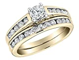#4: 1/2 Carat Round Cut Natural Diamond Engagement rings for women with a band in 10K Solid Gold