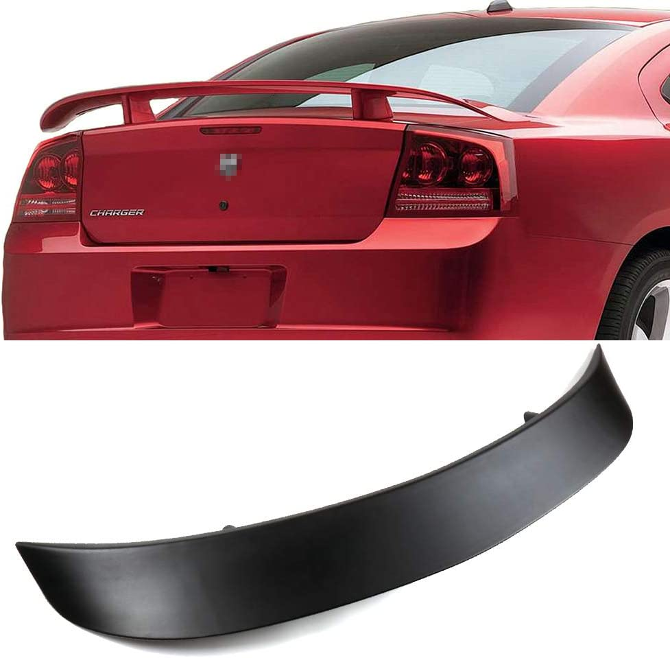 cciyu Black ABS Rear Spoiler Wing Replacement fit for 2006 2007 2008 2009 2010 Dodge Charger Stylish Trunk Spoiler Wing