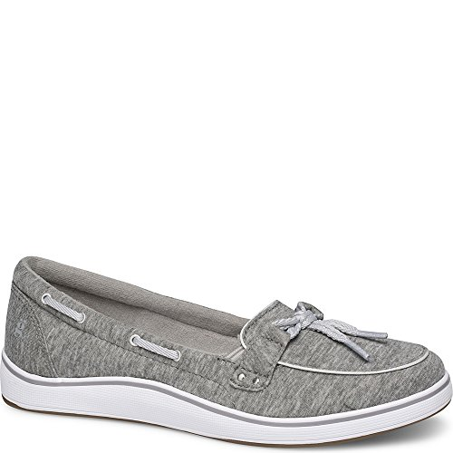 Grasshoppers Women's Windham Jersey Boat Shoe,Charcoal,10 W (Grasshoppers Canvas)