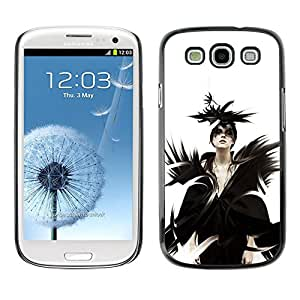 // PHONE CASE GIFT // Duro Estuche protector PC Cáscara Plástico Carcasa Funda Hard Protective Case for Samsung Galaxy S3 / Goth Señora Reina /