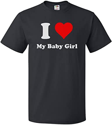 I Love Heart My Baby Ladies T-Shirt