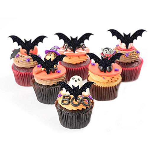 big-time Cake Topper,12pcs Halloween Cake Topper Halloween Bat