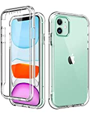 BRINCH iPhone 11 Case,[Built in Screen Protector] Full Body Shockproof Dual Layer High Impact Protective Hard Plastic & Soft TPU with Phone Cover Cases for iPhone 11 6.1 inch 2019,Clear