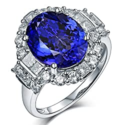 Tanzanite Engagement Ring With Diamond