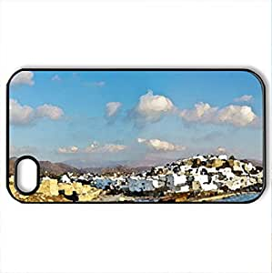 Beautiful view - Case Cover for iPhone 4 and 4s (Monuments Series, Watercolor style, Black) by lolosakes