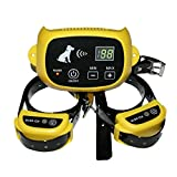 Wireless Pet Containment System Electronic Dog Yard Portable Wireless Dog Fence System with Shock Rechargeable and Waterproof Training Collar for Dog Cat