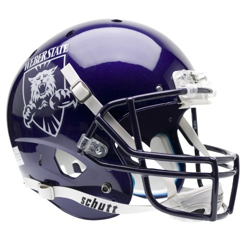 NCAA Schutt Weber State Wildcats Full Size Replica Football Helmet - Purple by Schutt