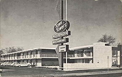 Town Towers Motor Hotel Bowling Green, Kentucky Original Vintage Postcard